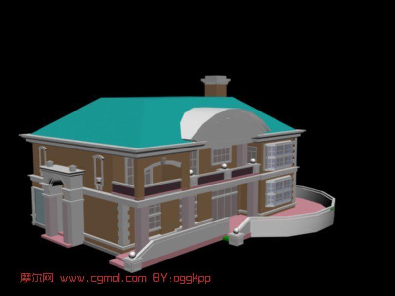 欧式建筑,城堡,室外场景max模型