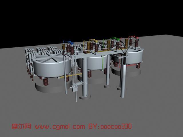 变电站电容器组,电器max模型