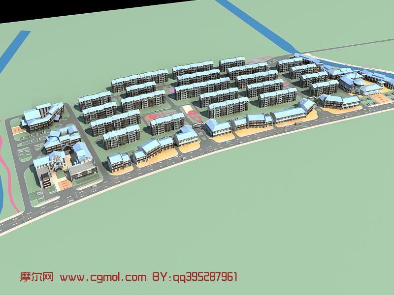 小区规划,沙盘建筑,古建筑3d模型