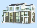 双层别墅,带阁楼的max模型