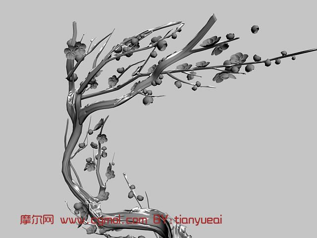 梅花树干树枝简笔画