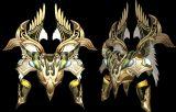 原创作品,黄金盔甲,战甲max模型