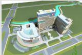 楼顶带停机坪的医院3D模型
