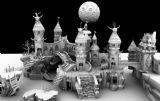 皮皮谷,卡通城堡场景maya模型