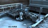 小桥流水,园林建筑,古代亭子3D场景模型