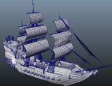武装航海商船,帆船maya模型