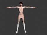 裸体美女max模型