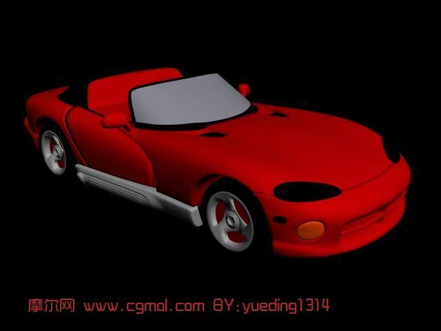 红色跑车max模型
