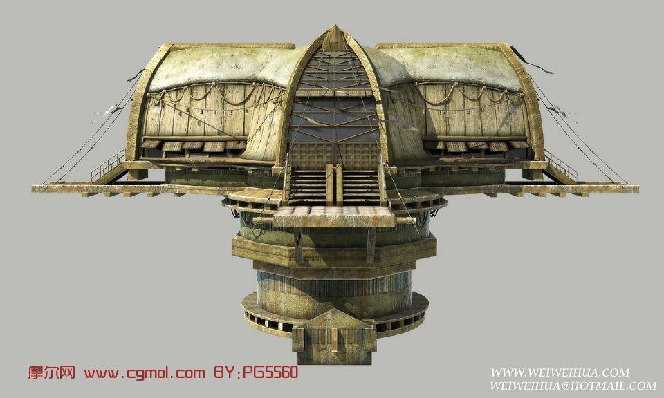 飞行的房子maya模型