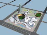 奥林匹克运动馆鱼鳞形渐变表皮异型建筑模型max模型