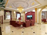 客厅,别墅max模型