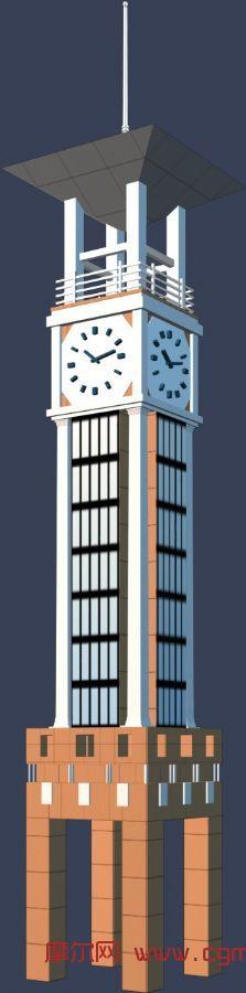 钟楼,建筑,室外场景max模型