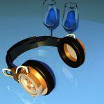 时尚耳机maya模型