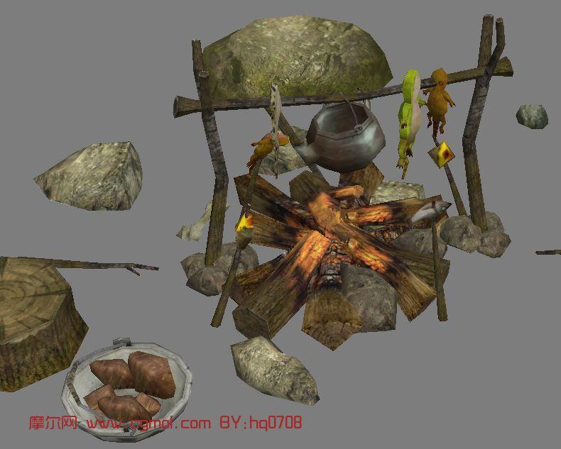 古代神殿,遗迹2,野外场景,游戏场景max模型