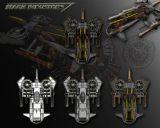 飞行器,战斗机,科幻飞船max模型