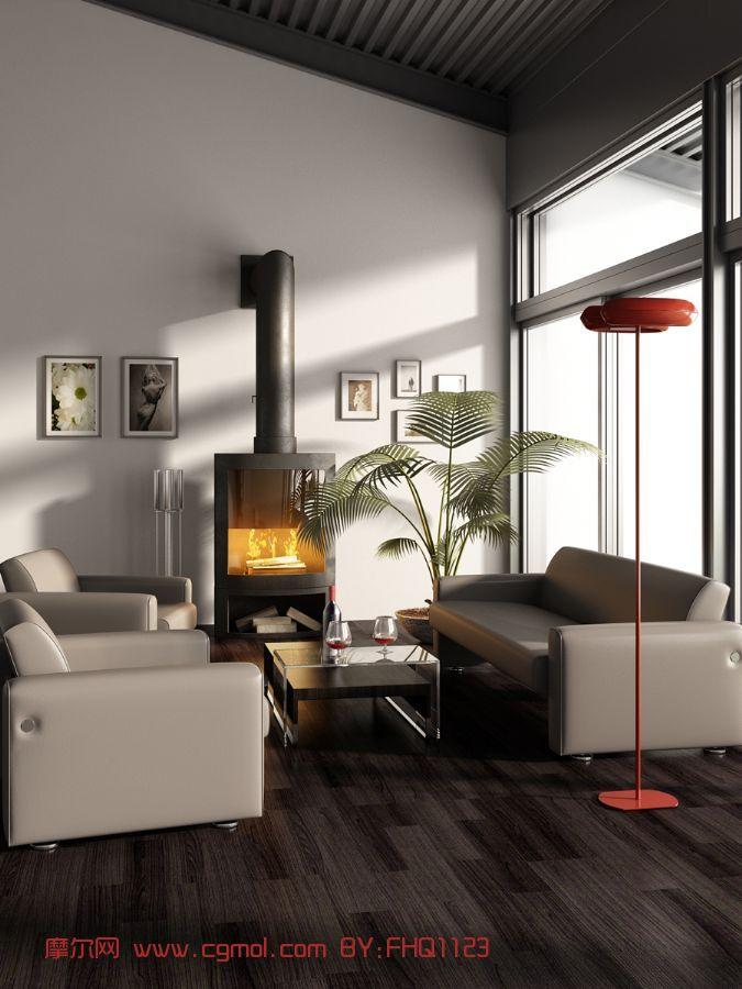 欧式客厅,室内场景,样板间max模型