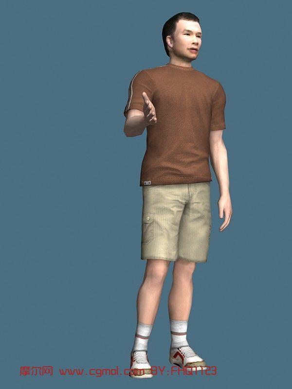 现实人物,男性,运动青年max模型