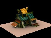 q版房子,卡通建筑max模型