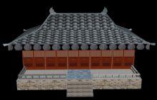 古朴的古建筑3D模型