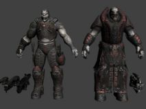 次时代 游戏角色max模型