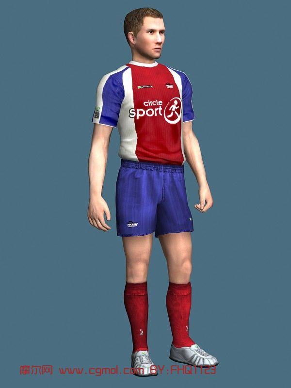 足球运动员,男人,男性,青年人max模型
