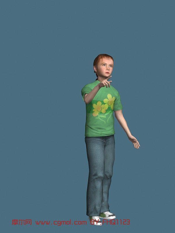 现实人物,儿童,小孩max模型
