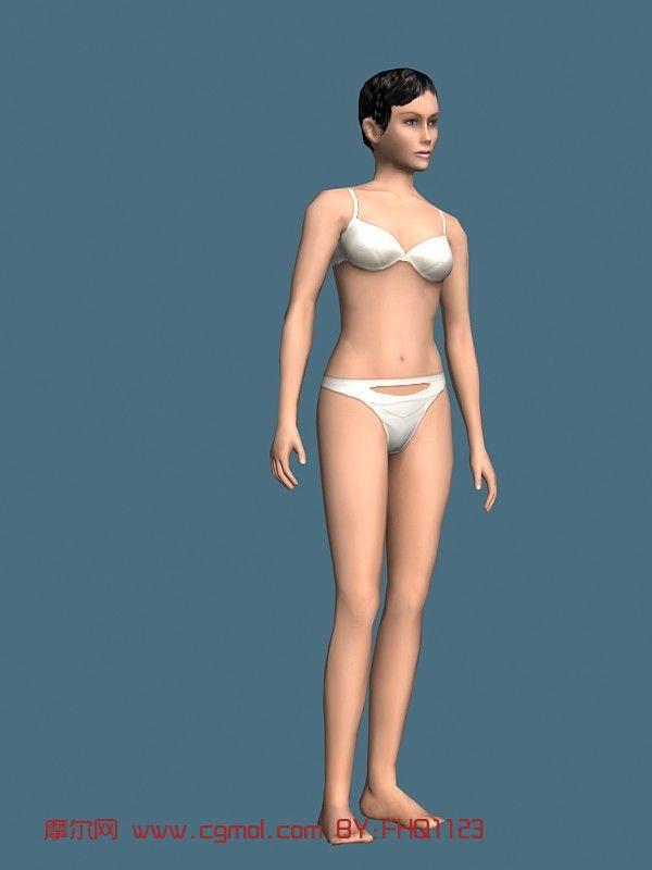 现实人物,内衣模特,女人,青年人max模型