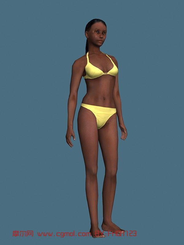现实人物,女性,泳装女人,青年人max模型