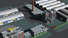 鸟瞰厂房,建筑,室外场景max模型