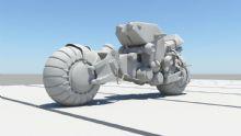 概念摩托,机械摩托,科幻maya模型
