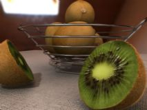 猕猴桃,水果景物,室内场景maya模型