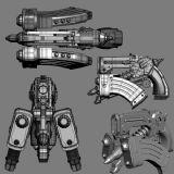 枪械,未来科幻武器max模型