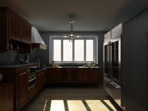 美式厨房,室内场景max模型