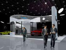 汽车展示,展厅,室外场景max模型