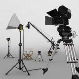 �影拍摄场景,摄影机max模型
