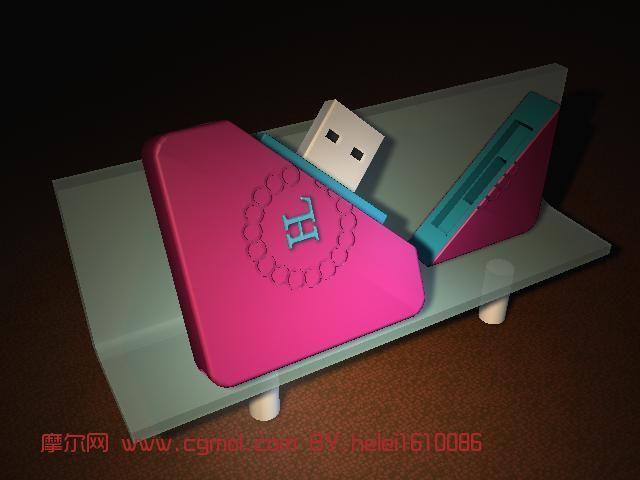 U盘,电子产品maya模型