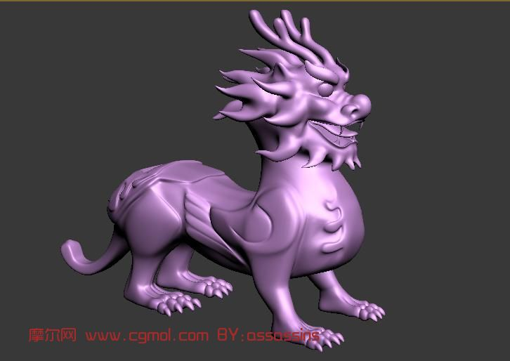 龙生九子之貔貅,古兽,怪物max模型