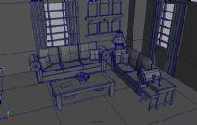 客厅,卡通场景maya模型