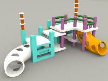 儿童玩具游乐场,娱乐设施max模型