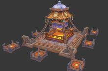游戏场景,建筑max模型