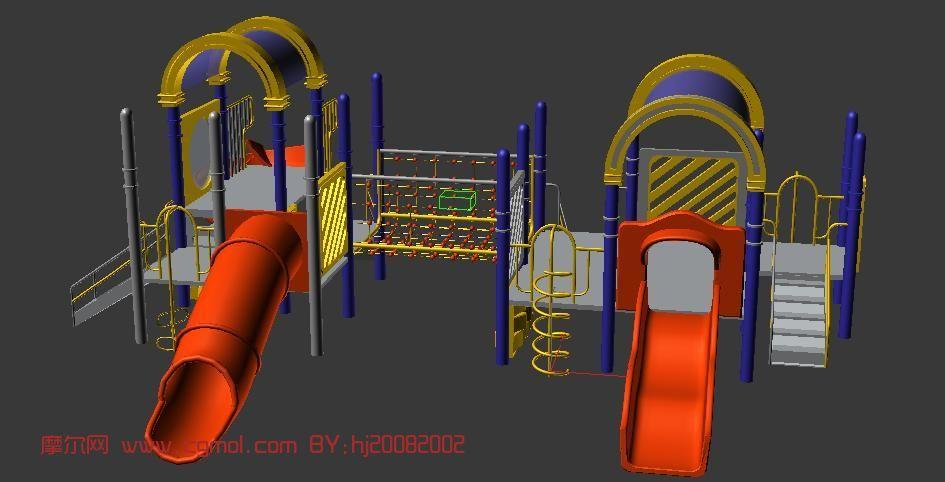 儿童滑梯,娱乐设施max模型
