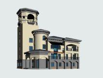 别墅,中式建筑,房子,小区,住宅max模型