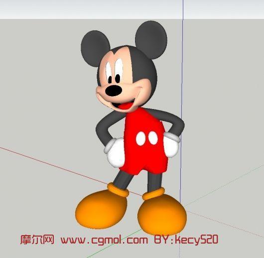 动画角色 卡通角色  关键词:米奇米老鼠卡通角色max 作品描述:很可爱