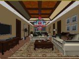 美式客厅,室内场景max模型