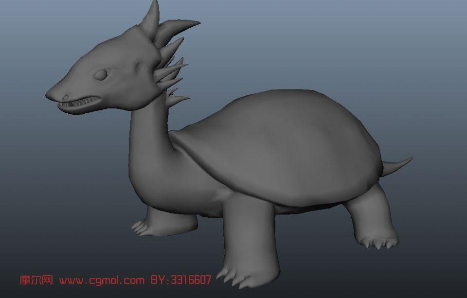 龙龟,游戏角色,怪物max模型