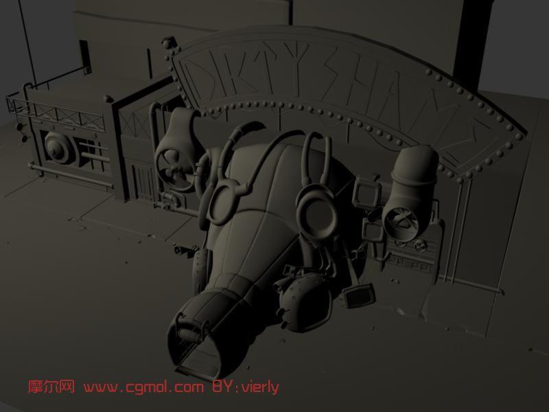 科幻场景maya模型