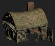 小铁匠铺,店铺,小屋,房子,游戏场景max模型