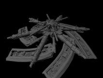 炮台,机械maya模型