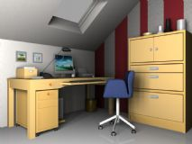 书房场景,室内max模型