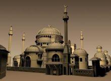 清真寺,寺庙,建筑,室外场景max模型